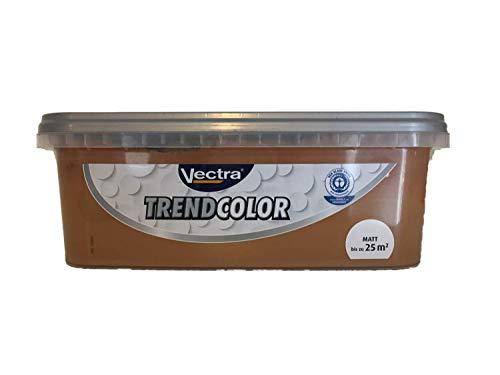 Vectra Trend Color Bunte Wandfarbe matt 2,5 Liter FARBWAHL, Farbe:Cappuccino