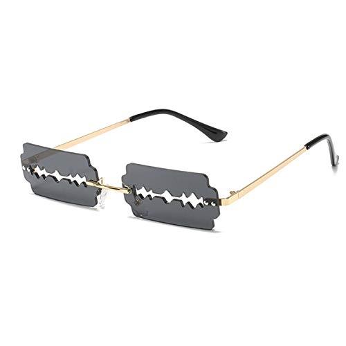 Einzigartig Sonnenbrille Sunglasses Mode Randlose Klinge Sonnenbrille Frauen Persönlichkeit Trend Rasiermesser Sonnenbri