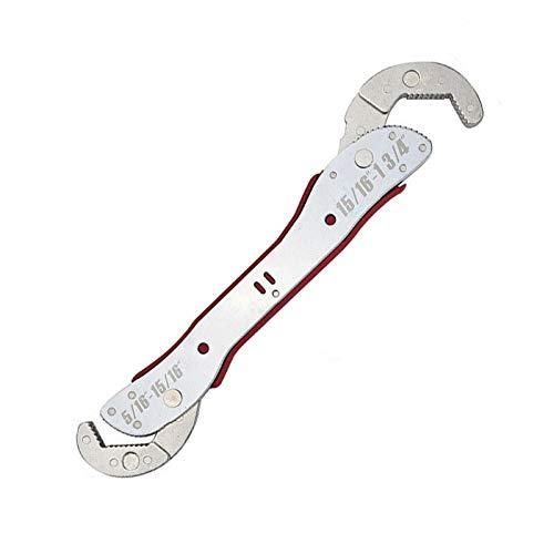 BE-TOOL Verstellbarer Schraubenschlüssel 9-45 mm Multifunktions-Schlüssel Magic Maulschlüssel Universal Quick Snap für jede Form von Muttern Bolzen Rohre