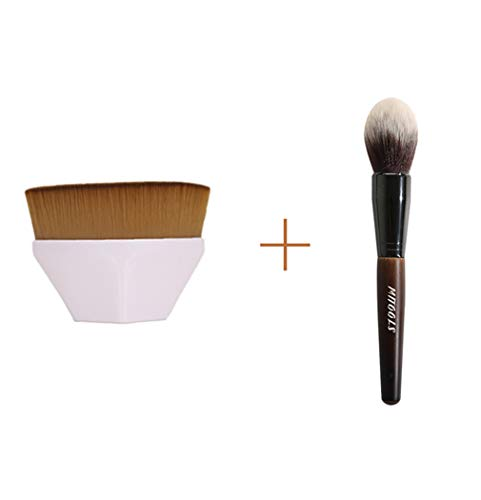 Hffbyvty Pinceau De Maquillage Multifonctionnel, Foundation Brush Bb Cream Makeup Brush Loose Brush Flat Set Beauty Tools, 6 * 3Cm / 2.4 * 1.2In 6 * 3 Cm / 2,4 * 1,2 Pouces Blanc 1 Pinceau