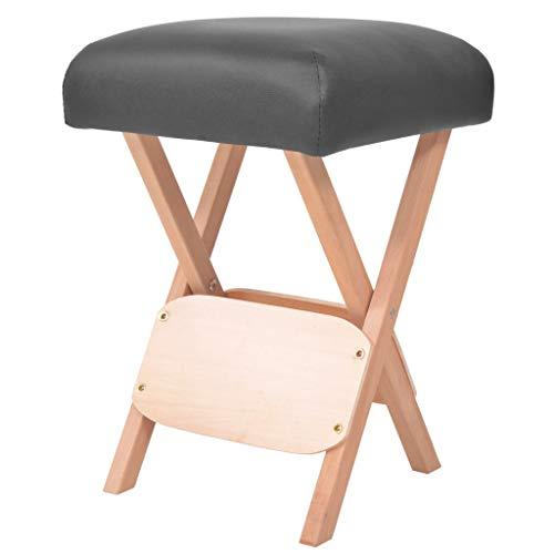 vidaXL Massage Hocker Dickem Sitz Klapphocker Arbeitshocker Klappstuhl Hocker Sitzhocker Polsterhocker für Massageliege Therapieliege 12cm Schwarz