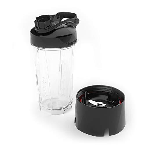 Blendtec GO (30 oz) Bottle, Reusable Single Serve Blender Cup, Includes Travel Lid, BPA-Free Jar, Clear