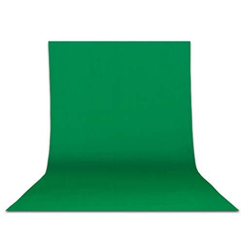 Telón de fondo de pantalla verde Telones de fondo lavables de algodón 100% poliéster Estudio fotográfico Fondo de fotografía para retrato Transmisión web en vivo Video Filmación