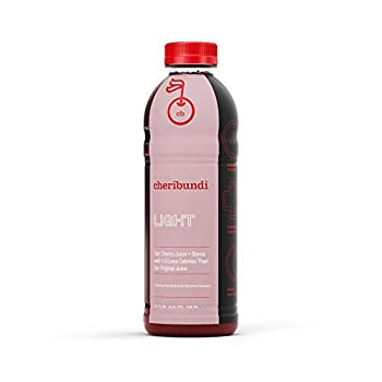 Cheribundi LIGHT Tart Cherry Juice – 40 Tart Cherries and 80 Calories Per 8oz Serving  Pack of 8  Low Sugar Tart Cherry with Stevia Reduce Soreness Recover Faster Boost Immunity Improve Sleep