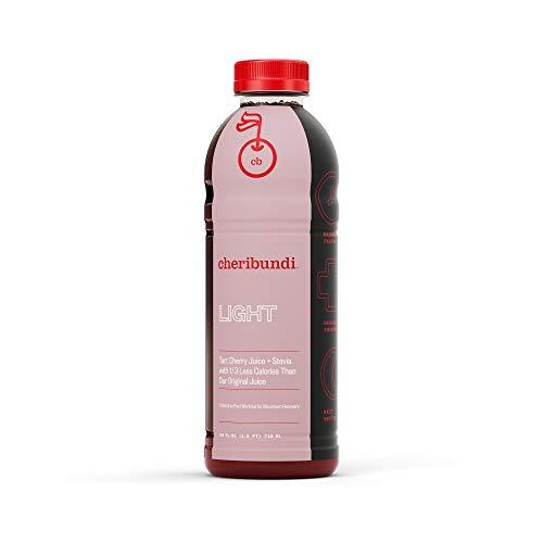 Cheribundi LIGHT Tart Cherry Juice – 40 Tart Cherries and 80 Calories Per 8oz. Serving (Pack of 8), Low Sugar Tart Cherry with Stevia, Reduce Soreness, Recover Faster, Boost Immunity, Improve Sleep