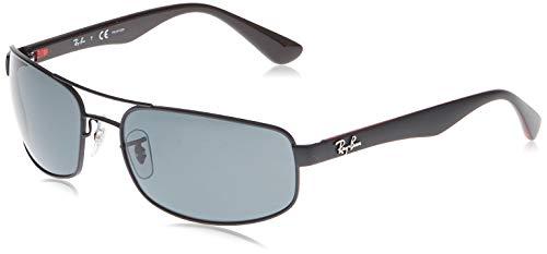 Ray-Ban Unisex RB3445 Sonnenbrille, Schwarz (Gestell: Schwarz, Gläser: Polarized Grau Klassisch 006/P2), X-Large (Herstellergröße: 61)