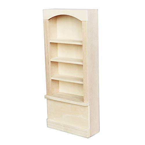 lahomia Miniatyr hantverk 4-lagers björk trä displayhyllor skåp förvaring för 1:12 dockhus hem/vardagsrum/kök/butik möbeluppsättning leksaker gör-det-själv