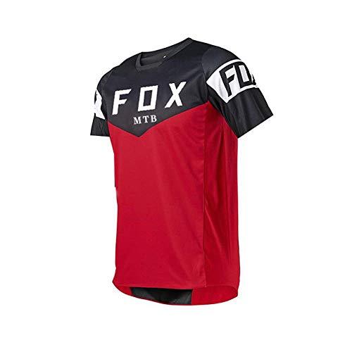PYMNDZ Men's Downhill Jerseys Short Sleeve MTB Fox Mountain Bike Shirts Offroad Dh Motorcycle Jersey Motocross Sportwear Fxr Bike-XXXL