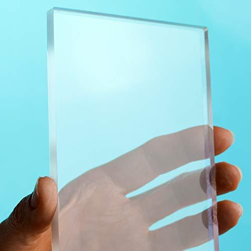 Metacrilato Transparente, 3mm de espesor, Corte Personalizado, Ventanas, Manualidades, Bricolaje (0,05m2)