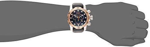 Invicta Men's 0360 Reserve Collection Venom Chronograph Black Leather Watch