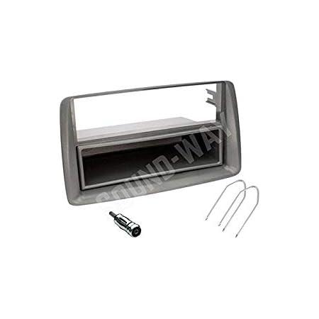 Sound Way 1 Din Autoradio Radioblende Radiorahmen Antennenadapter Schlüssel Kompatibel Mit Fiat Panda 2002 Auto