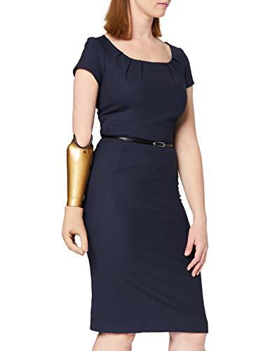 Daniel Hechter Damen 10270 700708 Kleid, Blau (Navy 690), 34