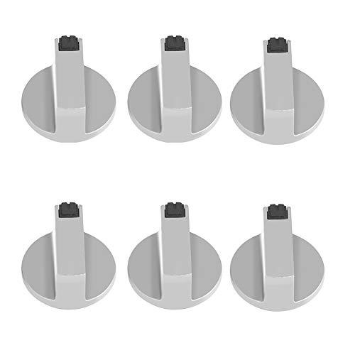 6 Stück Herdknöpfe, 180 Grad 6 mm, Universal-Gasherd-Drehknöpfe, Drehbarer Ofen-Herd-Drehschalter