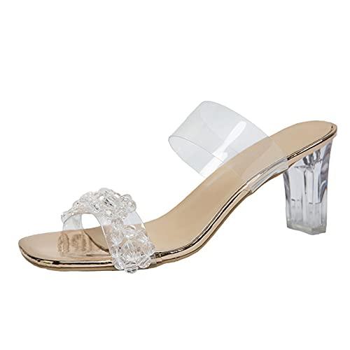 Fomino Sandalias de plataforma para mujer, zapatos abiertos, estilo sexy, tacón alto,...