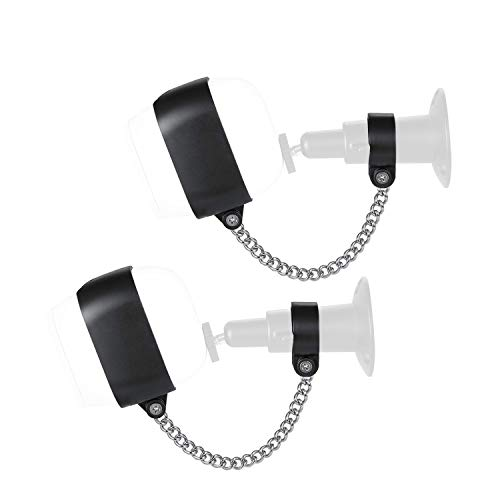 Wasserstein Anti-Theft Security Chain Compatible with Arlo Pro and Arlo Pro 2 - Extra Security for Your Arlo Camera (2-Pack, Black) (Not Compatible with Arlo Ultra & Arlo Pro 3)
