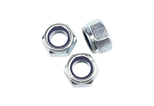 5 Stk DIN 985 Sicherungsmuttern M12x1,5 - Stahl verzinkt - Festigkeit 10