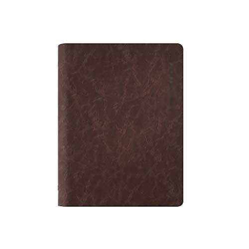 Dongxiao Cuaderno A5 de piel con tapa blanda rellenable para viajeros y escritores para hombres y mujeres de la increíble oficina (color marrón