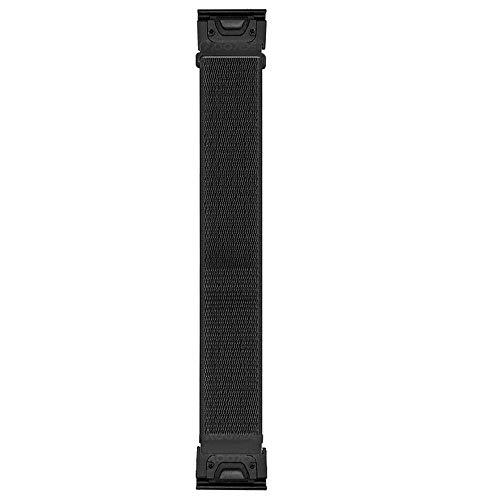 YOOSIDE Correa de nailon QuickFit de 26 mm para Fenix 6X Pro/Sapphire, correa de reloj deportiva para Garmin Fenix 5X/5X Plus, Fenix 3/3 HR, Tactix Delta, color negro