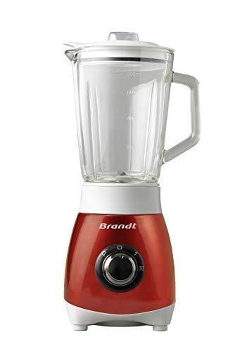 Brandt - Blender 0,8L Inox Rouge