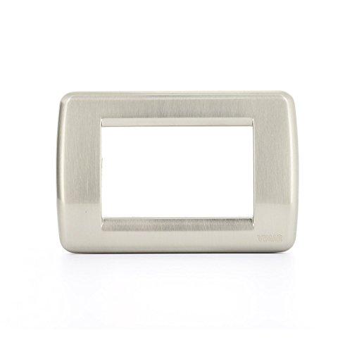 Vimar Serie Idea–Placca Rondo 3Modulo metallo nichel spazzolato