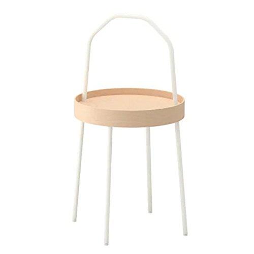 BURVIK IKEA stolik pomocniczy w kolorze białym; (38 cm)