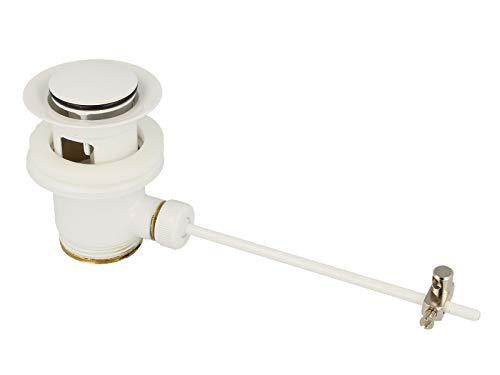 tecuro Exzenter Ablaufgarnitur weiss (RAL 9016) für Waschtisch