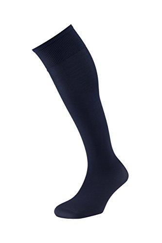 EJECUTIVO - Calcetines Largos - Con Talla - Para Hombre - Tacto muy confortable, agradable y cómodo - Color Marino - Talla XL - Pack de 3 calcetines