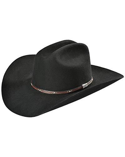 RESISTOL Men's George Strait Kingman 6X Fur Felt Cowboy Hat Black 7 1/8