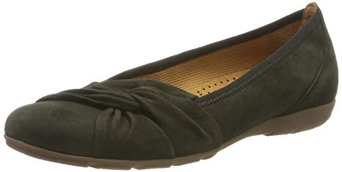 Gabor Shoes Damen Gabor Casual Geschlossene Ballerinas, Grün (Bottle 11), 38 EU
