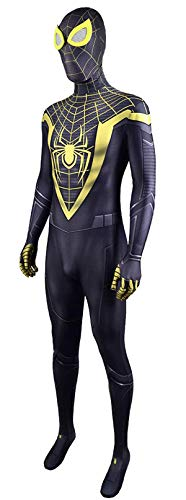 NVHAIM Disfraz de Anime Cosplay de Spider-Man, Adultos The Man of Steel Movie Fans Apparel Mono de superhroe para Disfraces, Medias combinadas de Juego de Roles Escenario de pelicula,Women M