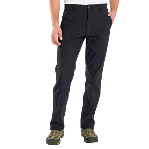 UNIONBAY Men's UB Tech Flex Waist Travel Chino Pants (Black, 34W x 30L)