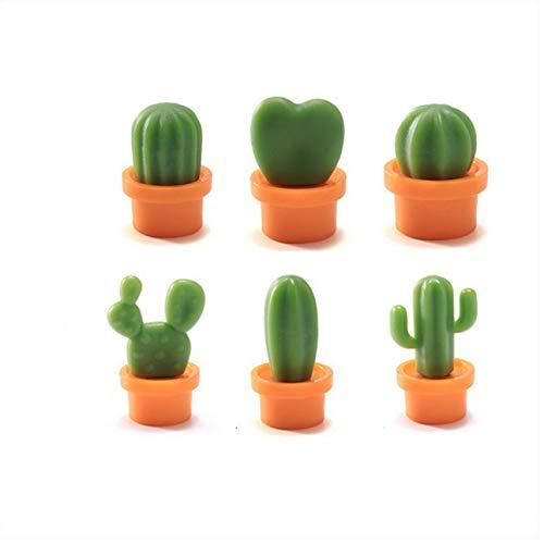 Ba30DEllylelly Imanes de nevera con diseño de cactus de planta divertida, pegatina de pizarra blanca, imanes de nevera, regalo para niños, decoración del hogar
