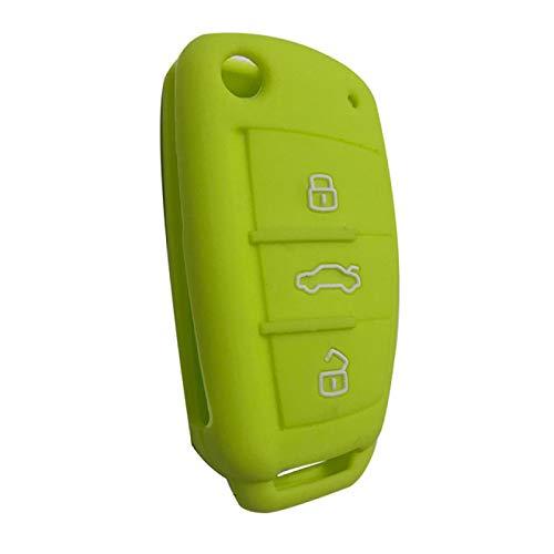 ZHANGERDAN Funda de silicona para llave de coche Accesorios de protector de soporte para llave de cochePara Audi Sline A3 A5 Q3 Q5 A6 C5 C6 A4 B6 B7 B8 S6