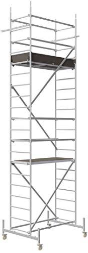 ALTEC Rollfix® 1.0 600 | 6m AH | Rollen (Ø125mm) | Standardtraverse | Made in Germany | TÜV&GS | belastbar 200kg/m² | Alu Arbeitsgerüst | Baugerüst | Fahrgerüst