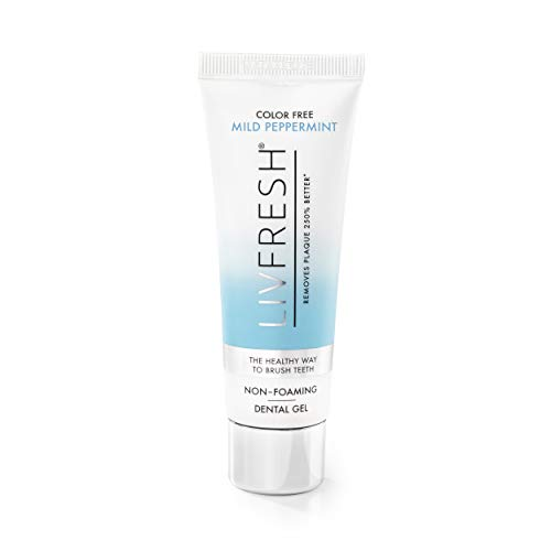 LIVFRESH Dental Gel (Formerly LIVFREE) - Clinically Proven to Remove Plaque 250% Better (Color Free...