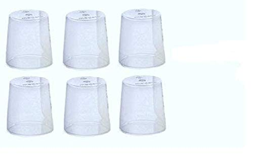 (6) Medela Clear Travel Caps/ bottle cap/ nipple cap/ collar cap - Genuine for Use with Collar Ring - Medela Bottles