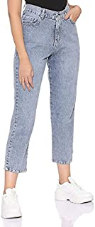 Andiamo Fashion High-Rise Cropped Mom-Fit Jeans for Women 30