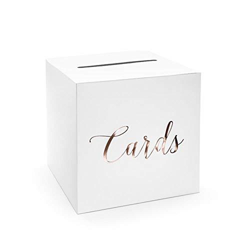 wYw Hochzeitspost-Box, Kartenhalter Box – Karten, Roségold