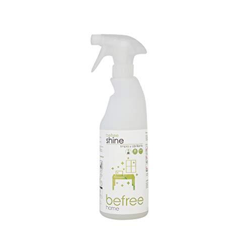 Befree Shine: Limpiador - abrillantador ecológico para polvo sin aclarado. Elimina el polvo y las huellas sin marcas. Limpia polvo 750 ml. Detergente biodegradable, biológico, enzimático. Ecodiseño.