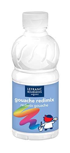Lefranc Bourgeois - Gouache liquide Redimix pour enfants - Bouteille 250ml - Blanc
