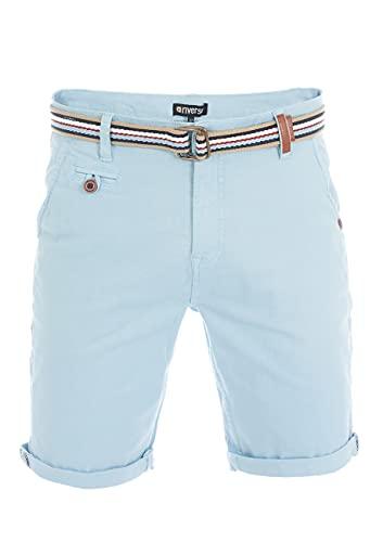 riverso Herren Chino Shorts RIVKlaas Regular Fit Gürtel Bermuda Kurze Hose Sommer Short 98% Baumwolle Blau w34, Größe:W 34, Farbe:Light Blue (19200)