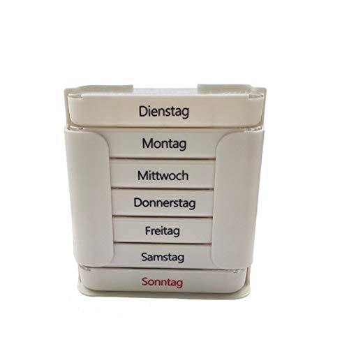 N / C Tower pill box organizer weekly pill box, containing 7 single boxes of weekly pill organizers, four times a day, once dispenser, with stackable compartments