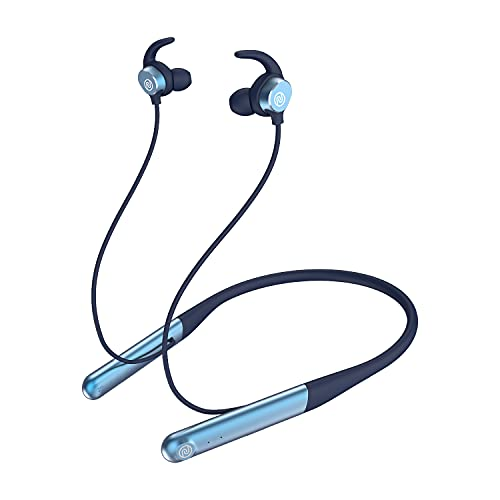 Noise Flair in-Ear Wireless Bluetooth Smart Neckband Earphone with Touch Controls, 35 Hour Playtime, Environmental noise Cancellation with Dual mic, Fast Charging (Stone Blue)