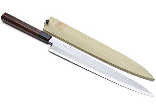 Yoshihiro Hongasumi Blue Steel Yanagi Sushi Sashimi Japanese Knife Rosewood Handle...