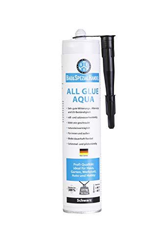 BSH® *All Glue Aqua* Unterwasserkleber, Alleskleber, Universaldichtstoff, Natursteinkleber, Einer für Alles, Farbe schwarz, 465g, Made in Germany (40,65 €/ kg)