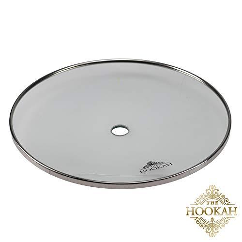 Glas Kohleteller von THE HOOKAH |ca.24 cm |Glaskohleteller aus Borosilikatglas & V2A Edelstahl