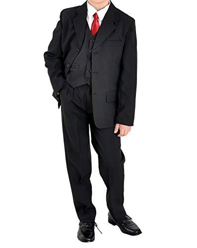 familientrends 5tlg Jungenanzug Jugendanzug Konfirmationsanzug Firmung Gr.164-182 Uni schwarz, Grösse Bekleidung:170/176;Farbe:Schwarz