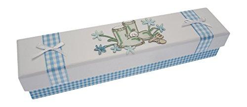 Cartes en coton blanches, Titulaire de certificat de naissance (bottes bleues)