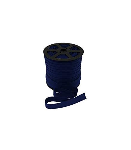 zipworld 10 Meter Baumwolle - Schrägband Einfassband Nahtband gefalzt 18mm Breit (dunkelblau - 15)