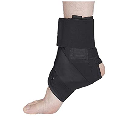 Ankle Brace Stabilizer,Lace Up Adjustable Support for Basketball,Volleyball, Running,Plantar fasciitis, Sprain,Swelling, Tendonitis,Nuscle fatigue,Ankle Wrap for Men,Women, and Children (Black, Small)